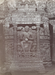 Sculpture on the Dagoba, Cave XXVI, Ajanta